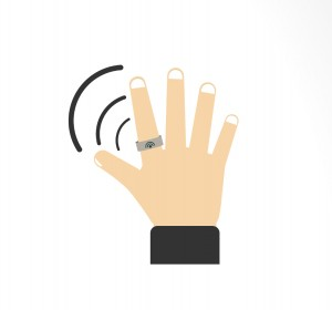 Wireless charging for wearable smart rings