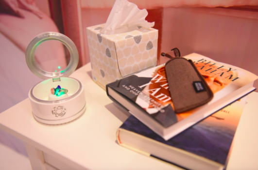 NEST station for hearing aids