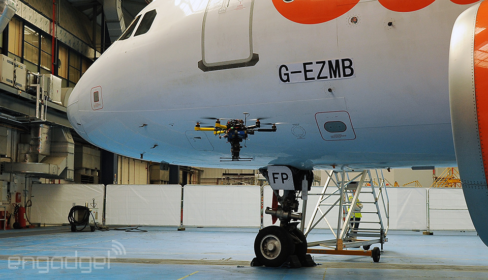 drone for plane inspection