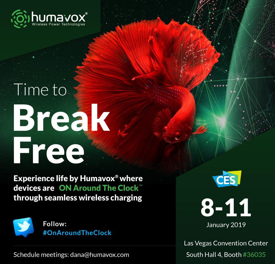 CES 2019 Humavox Invitation